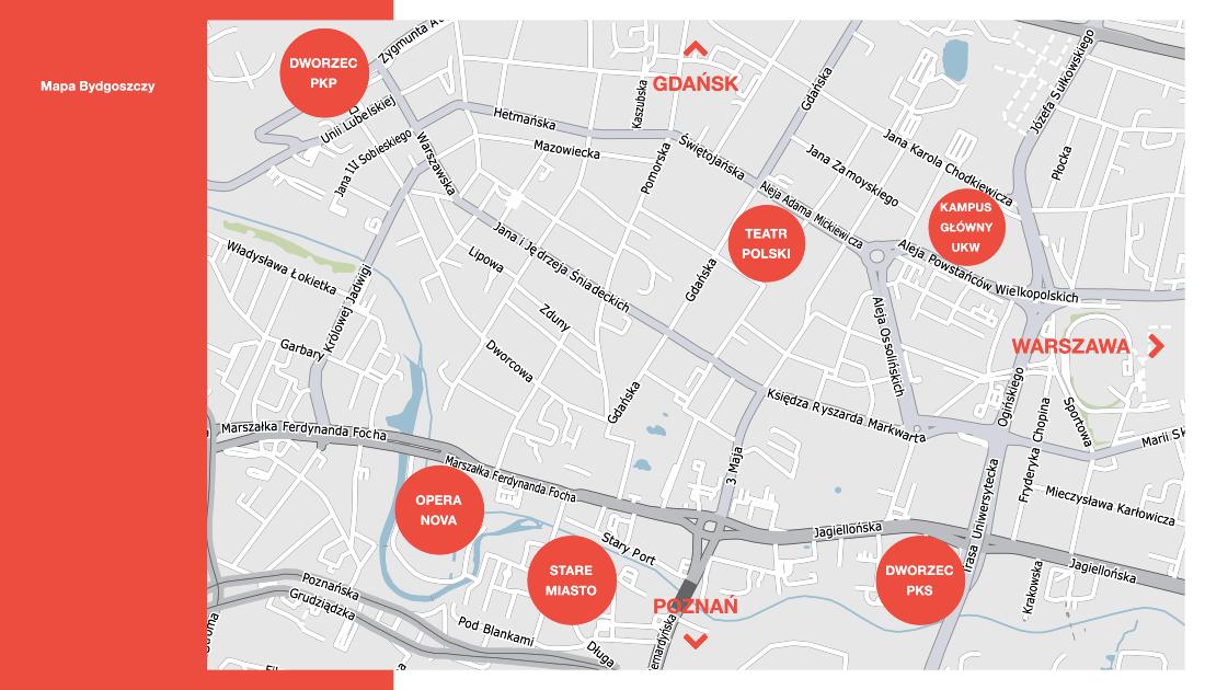 Mapa Bydgoszczy