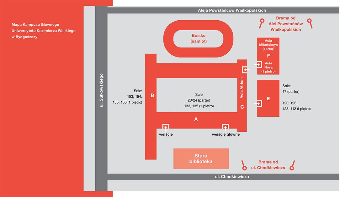 Mapa Kampusu UKW